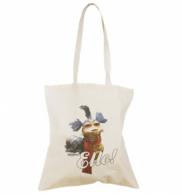 Labyrinth Worm Ello Canvas Tote Bag