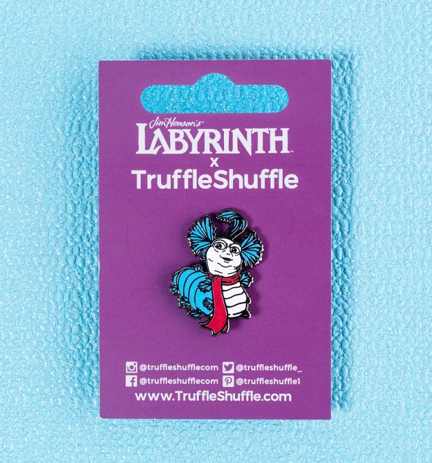 Labyrinth Worm Pin Badge