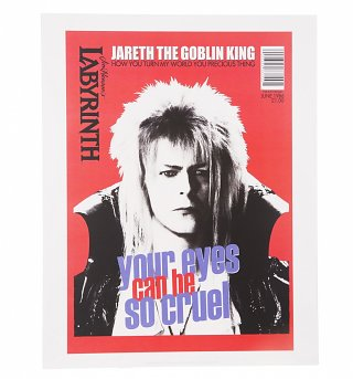 "Labyrinth Jareth Your Eyes Can Be So Cruel 11"" X 14"" Art Print"