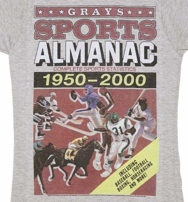 Women's Back to the Future Sports Almanac T-Shirt