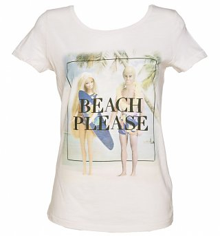 Women's Barbie Beach Please Scoop Neck T-Shirt