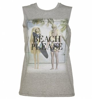 Women's Barbie Beach Please Sleeveless T-Shirt