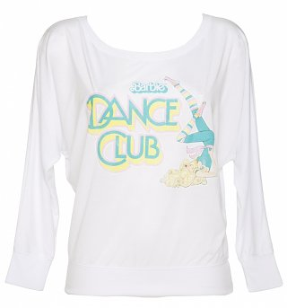 Women's Barbie Dance Club Off Shoulder Flowy T-Shirt