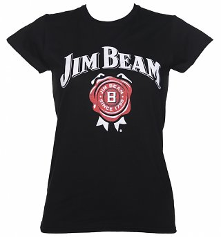 Women's Black Jim Beam Logo T-Shirt