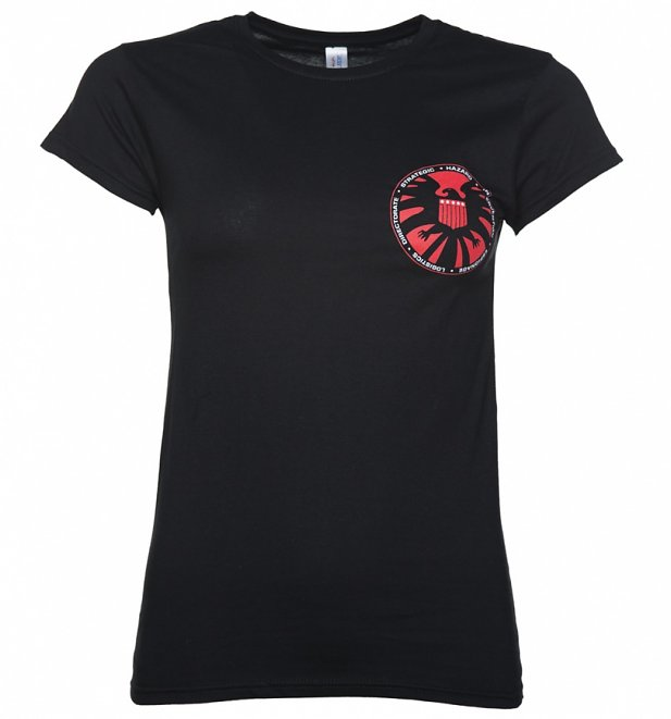 Women's Black Marvel Comics Agent Of S.H.I.E.L.D. Logo T-Shirt