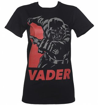 Women's Black Star Wars Vader Hope Rolled Sleeve Boyfriend T-Shirt