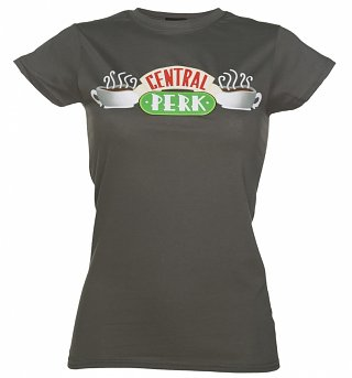 Women's Charcoal Central Perk Friends T-Shirt