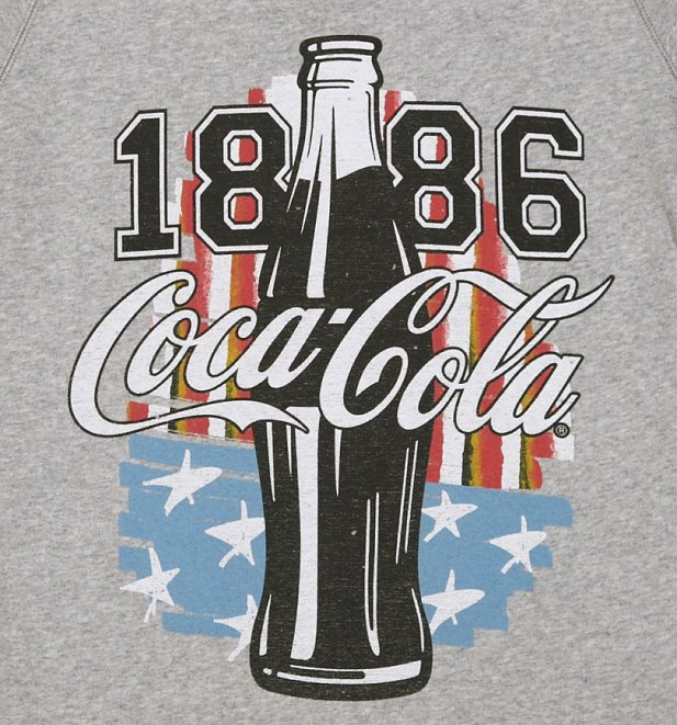 Women's Coca-Cola US Flag Short Sleeve Sweater
