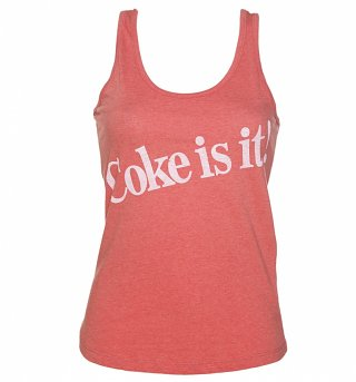 Women's Coke Is It! Heather Red Vest
