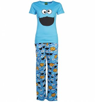 Women's Cookie Monster Sesame Street Pyjamas
