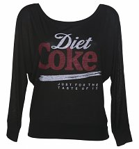Women's Diet Coke Just For The Taste Of It Long Sleeve Off Shoulder Tee