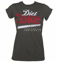 Women's Diet Coke Just For The Taste Of It Rolled Sleeve Boyfriend T-Shirt