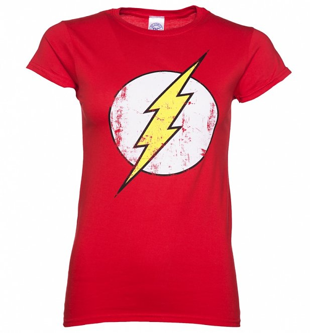 Women's Distressed DC Comics Flash Logo T-Shirt
