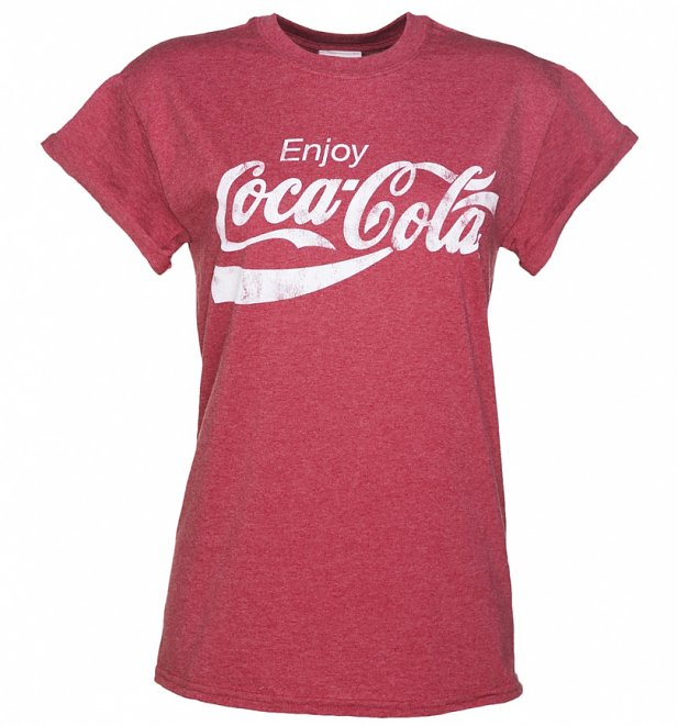 Women's Enjoy Coca-Cola Rolled Sleeve Boyfriend T-Shirt