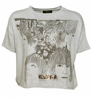 Women's Grey Marl Beatles Revolver Slouchy T-Shirt