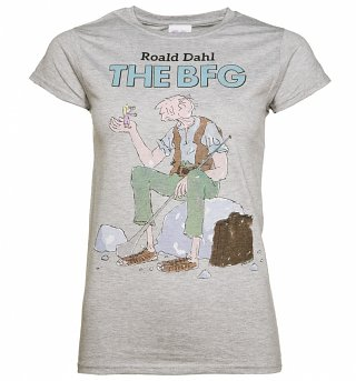 Women's Grey Roald Dahl The BFG T-Shirt