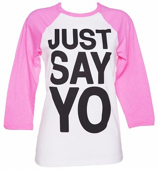 Women's Just Say Yo Raglan Baseball T-Shirt
