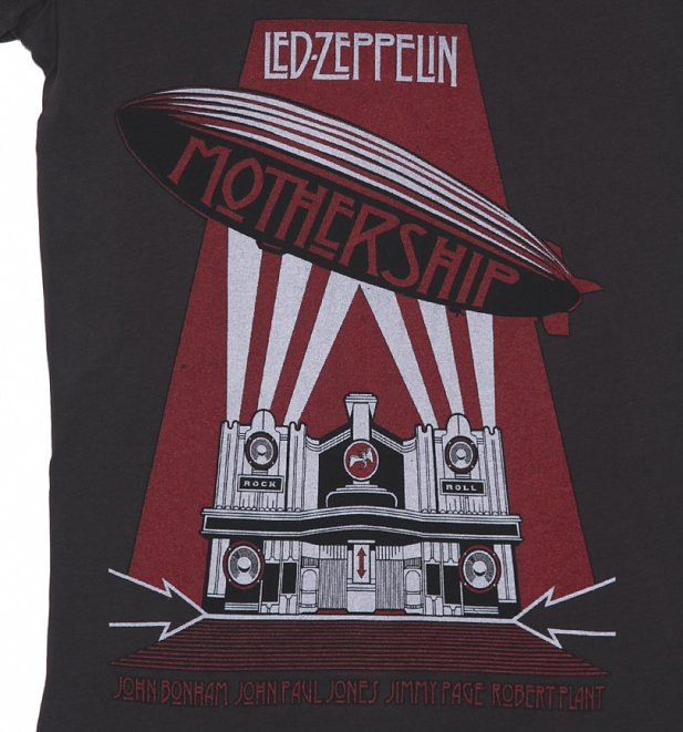 Women's Led Zeppelin Mothership Charcoal T-Shirt from Amplified
