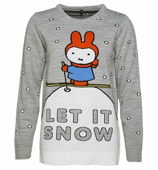 Women's Miffy Let It Snow Knitted Jumper