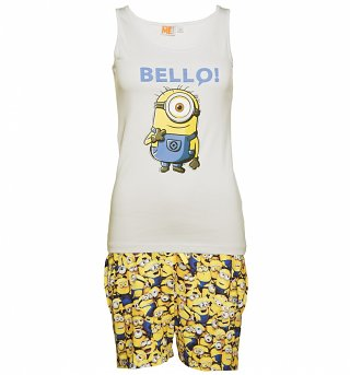 Women's Minions Bello Shortie Pyjamas