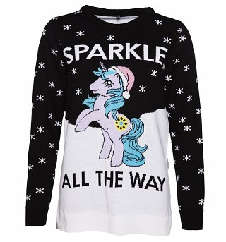 EXCLUSIVE Women's My Little Pony Sparkle All The Way Knitted Christmas Jumper