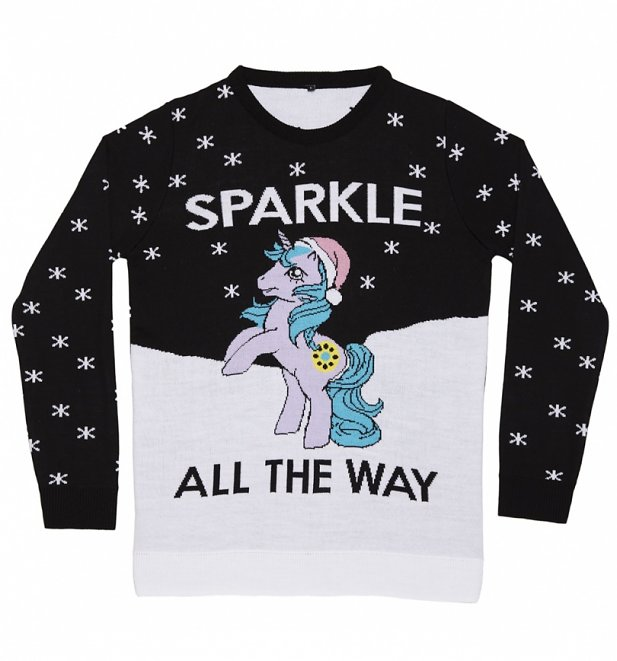 Women's My Little Pony Sparkle All The Way Knitted Christmas Jumper
