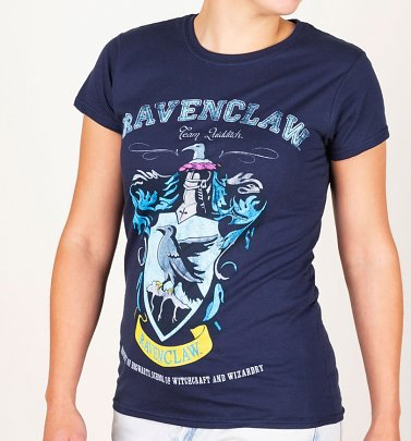 Women's Navy Harry Potter Ravenclaw Team Quidditch T-Shirt