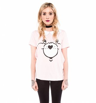 Women's Pink Care Bear Stare Collar Detail T-Shirt from Iron Fist