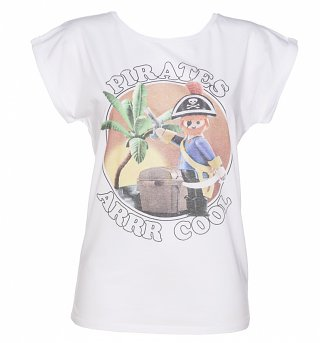Women's Playmobil Pirates Arrr Cool Rolled Sleeve Tunic T-Shirt