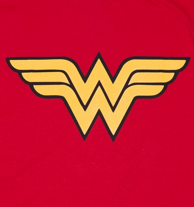 Women's Red Wonder Woman Logo T-Shirt