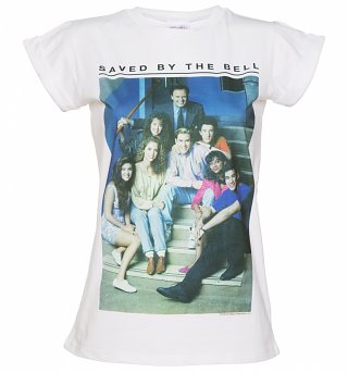 Women's Saved By The Bell Rolled Sleeve Boyfriend T-Shirt