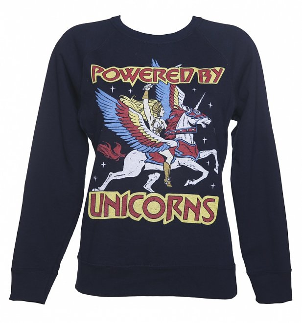 Women's Navy She-Ra Powered By Unicorns Sweater