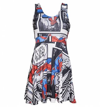 Women's Spider-Man Marvel Comics Skater Dress