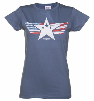 Women's Top Gun Maverick Stars and Stripes T-Shirt