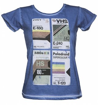 Women's VHS Tapes Denim T-Shirt