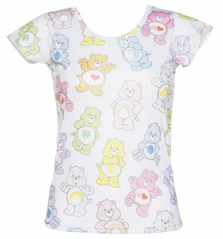 Women's Vintage Care Bears Ombre T-Shirt