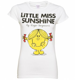 Women's White Little Miss Sunshine T-Shirt