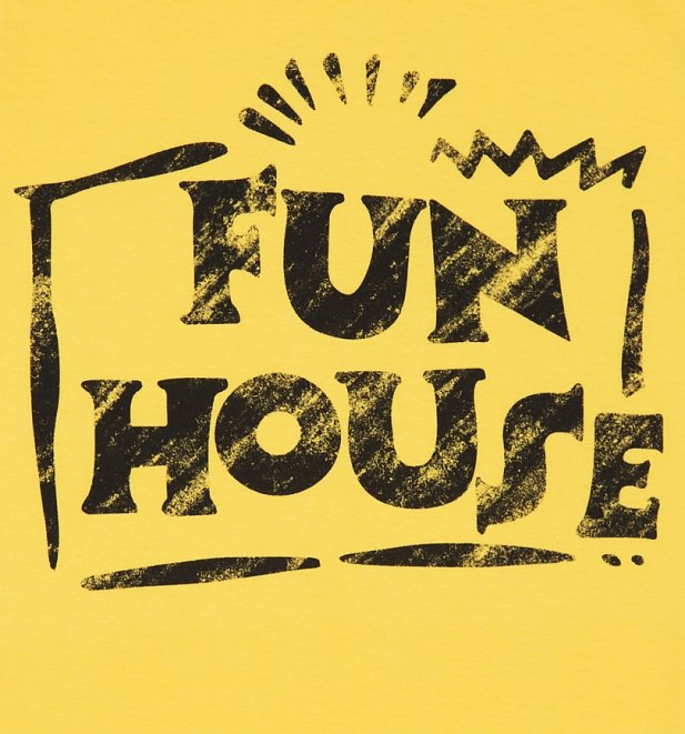 Women's Yellow Team Fun House Logo T-Shirt