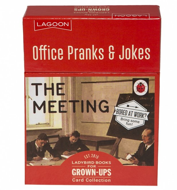 Ladybird Books For Grown Ups The Meeting Office Pranks & Jokes Card Collection