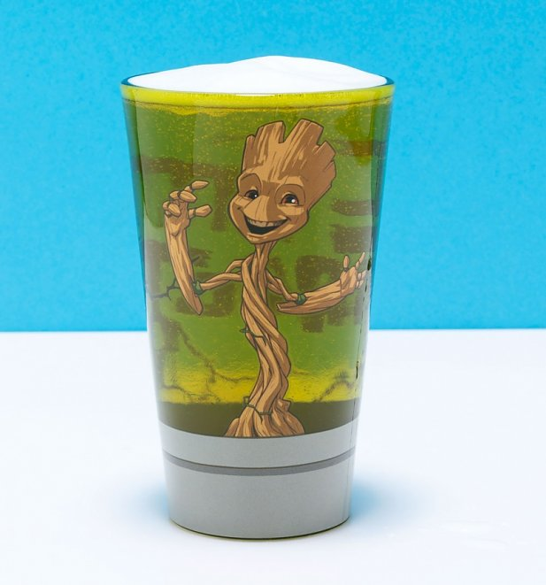 Large Marvel Comics I Am Groot Glass