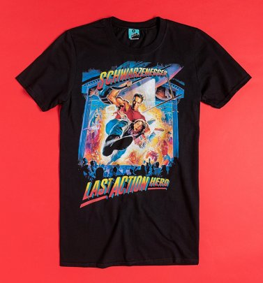 Last Action Hero Movie Poster Black T-Shirt
