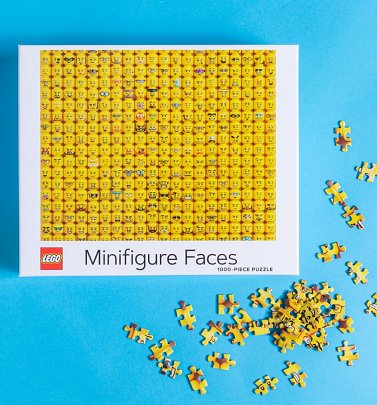 Lego Mini Figure Faces 1000 Piece Jigsaw Puzzle
