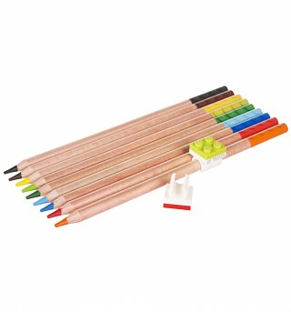 LEGO Set Of 9 Multicolour Pencils And Toppers