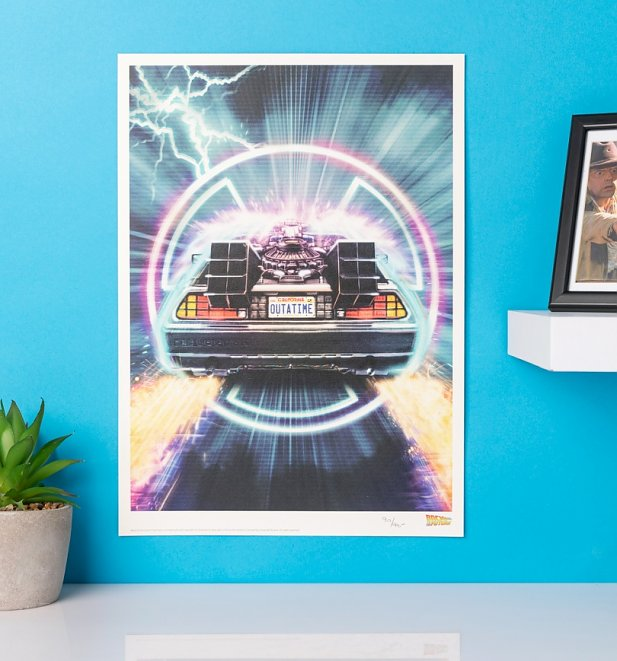 Limited Edition Back To The Future Delorean Art Print