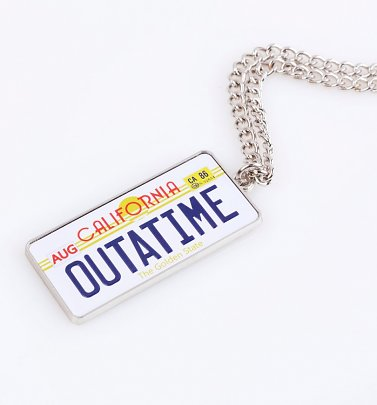 Limited Edition Back To The Future Outatime Delorean Numberplate Necklace