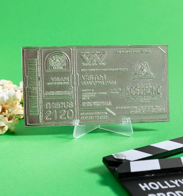 Limited Edition Collectable Silver Plated Alien Nostromo Boarding Ticket