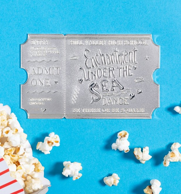 Limited Edition Collectable Silver Plated Back To The Future Enchantment Under The Sea Dance Ticket