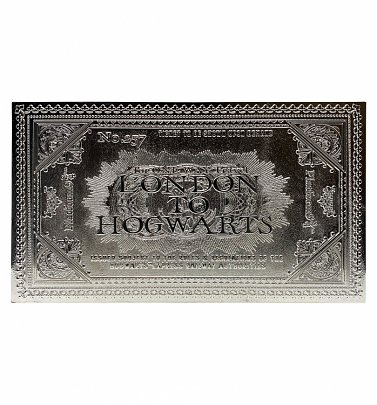 Limited Edition Silver Plated Harry Potter Hogwarts Ticket