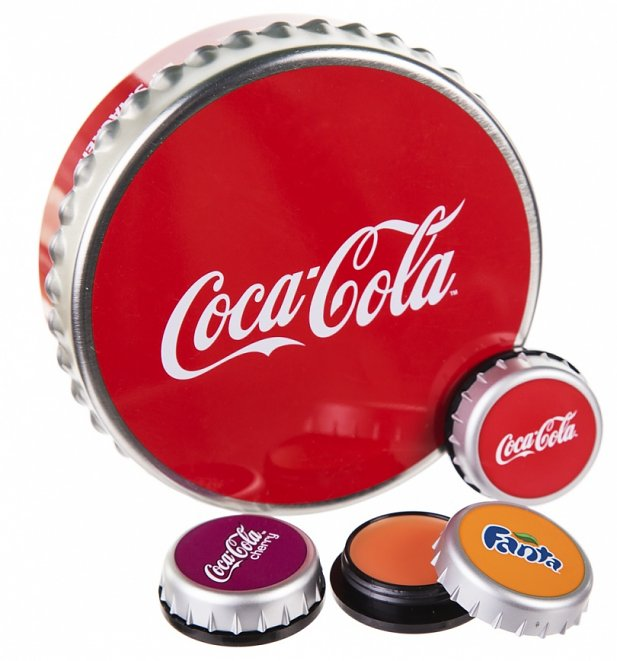 Lip Smacker Cap Tin - Coca Cola, Fanta, Cherry coke