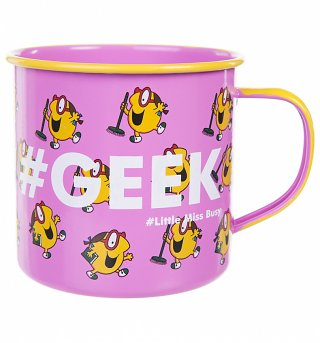 Little Miss Busy Geek Enamel Mug